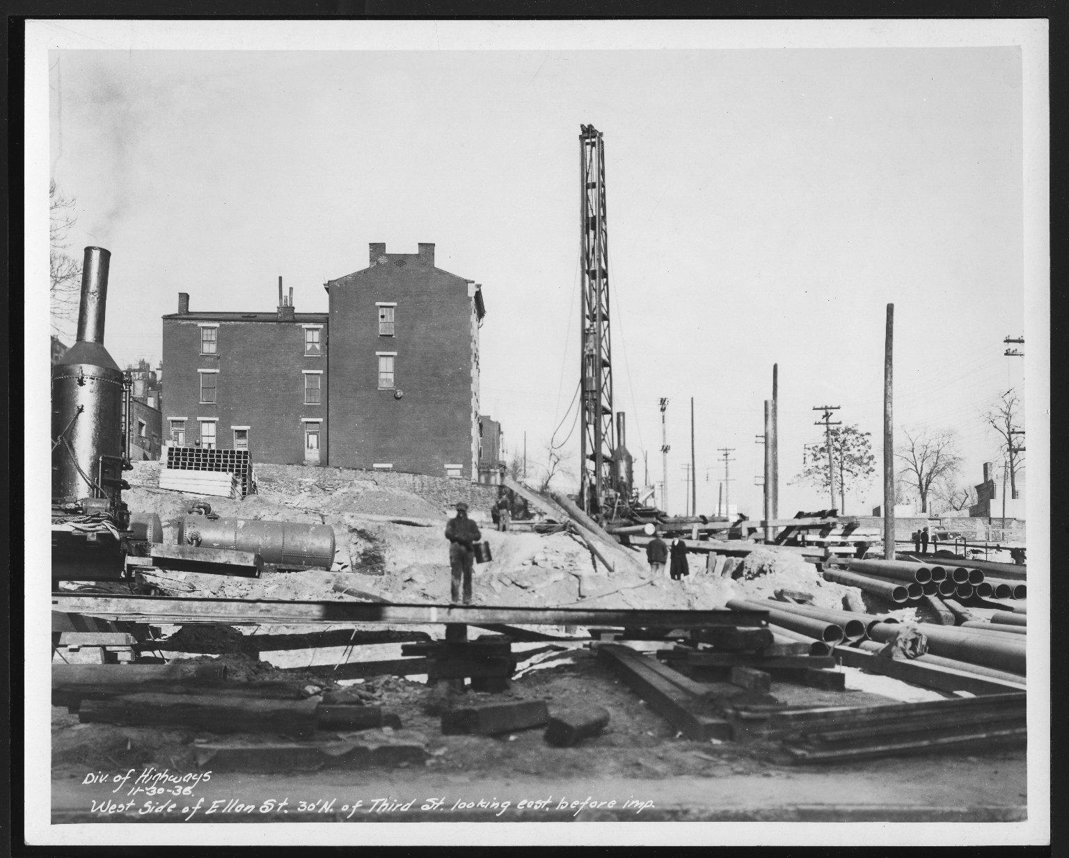 Street Improvement Photographs -- Box 22, Folder 68 (Elbrook Avenue) -- print, 1936-11-30
