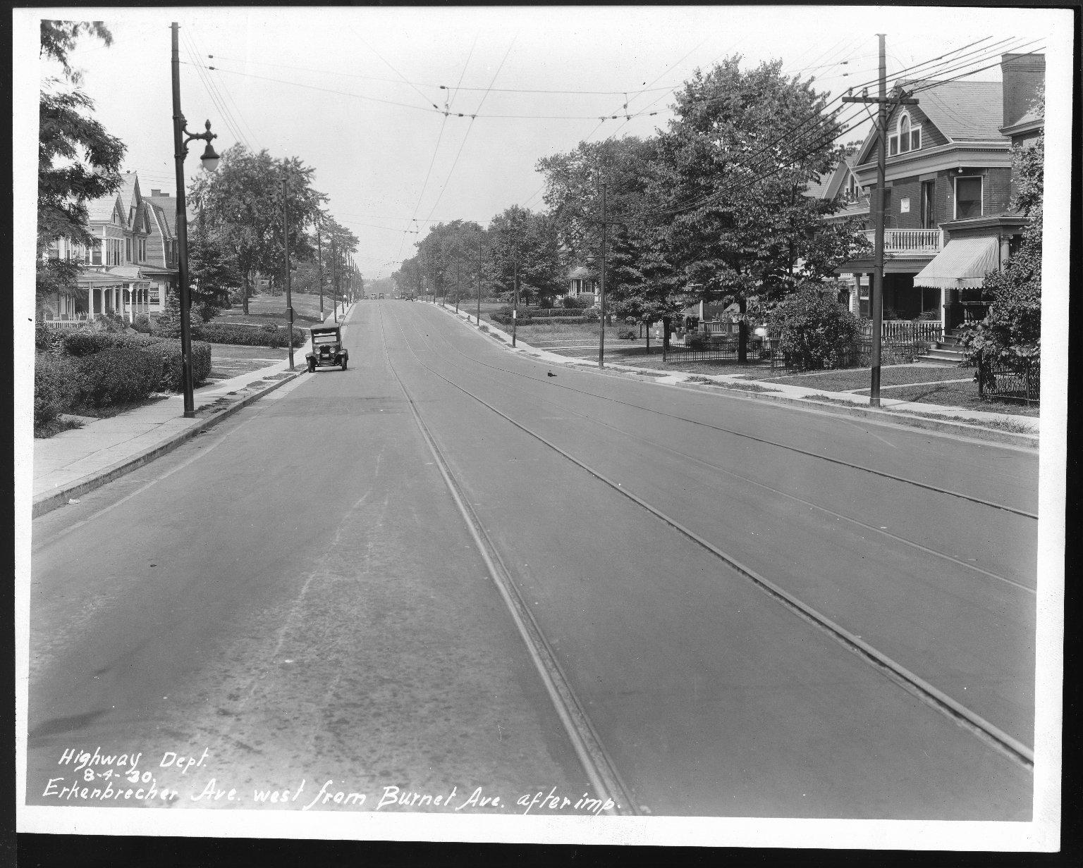 Street Improvement Photographs -- Box 23, Folder 09 (Erkenbrecher Avenue) -- print, 1930-08-04