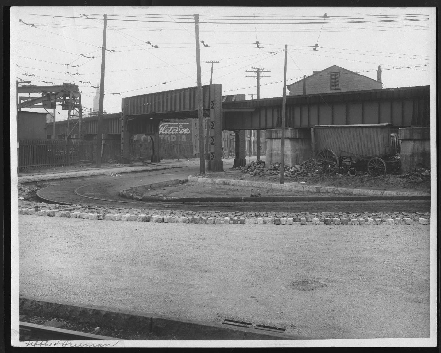 Street Improvement Photographs -- Box 23, Folder 23 (Fifth Street) -- print, 1916-10-21