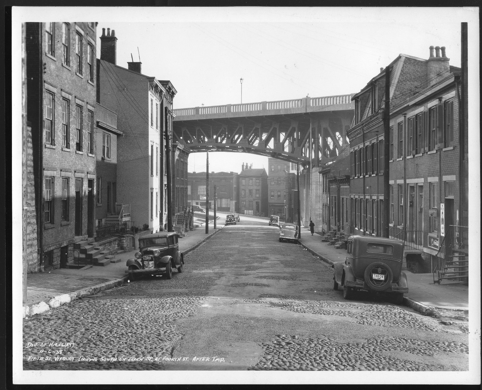 Street Improvement Photographs -- Box 23, Folder 25 (Fifth Street Viaduct) -- print, 1938-04-06
