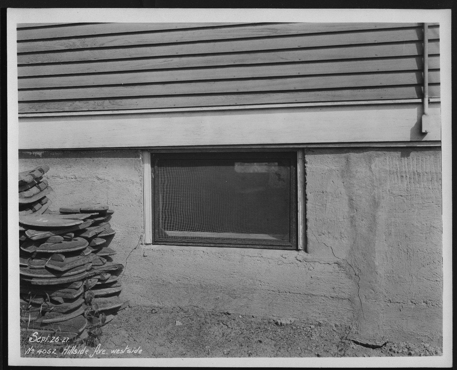 Street Improvement Photographs -- Box 24, Folder 39 (Hillside Avenue) -- print, 1927-09-26