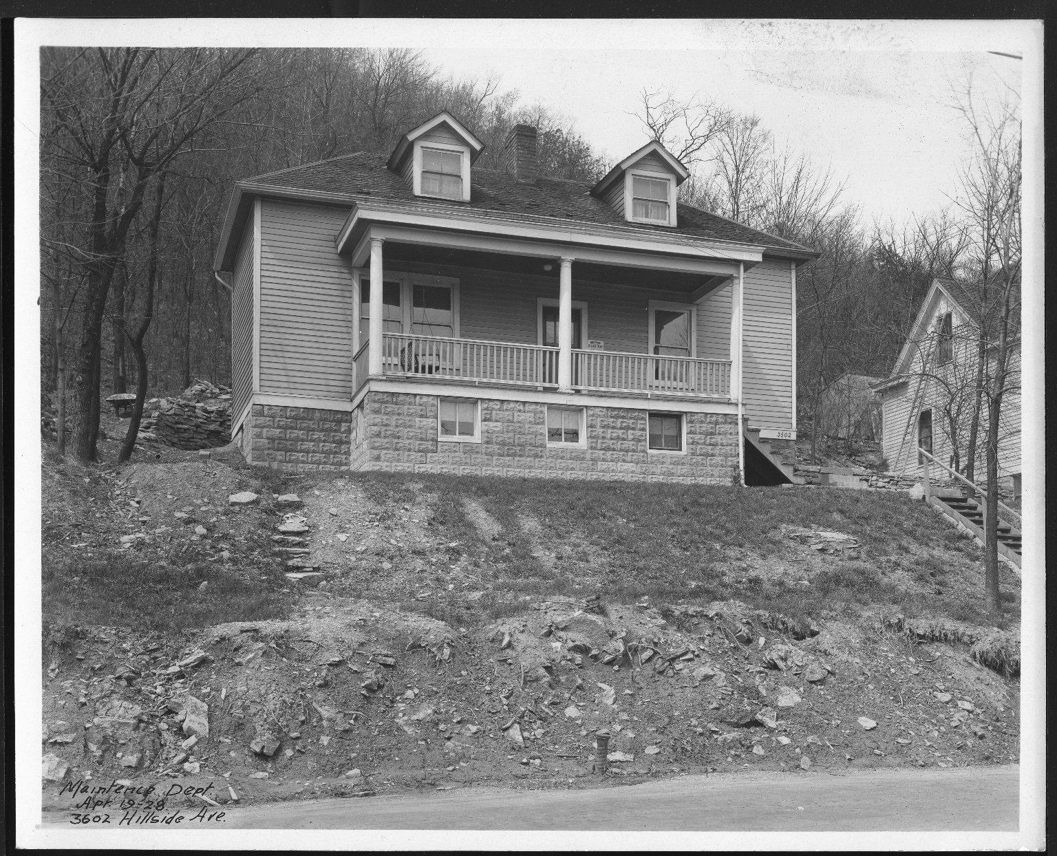 Street Improvement Photographs -- Box 24, Folder 40 (Hillside Avenue) -- print, 1928-04-19