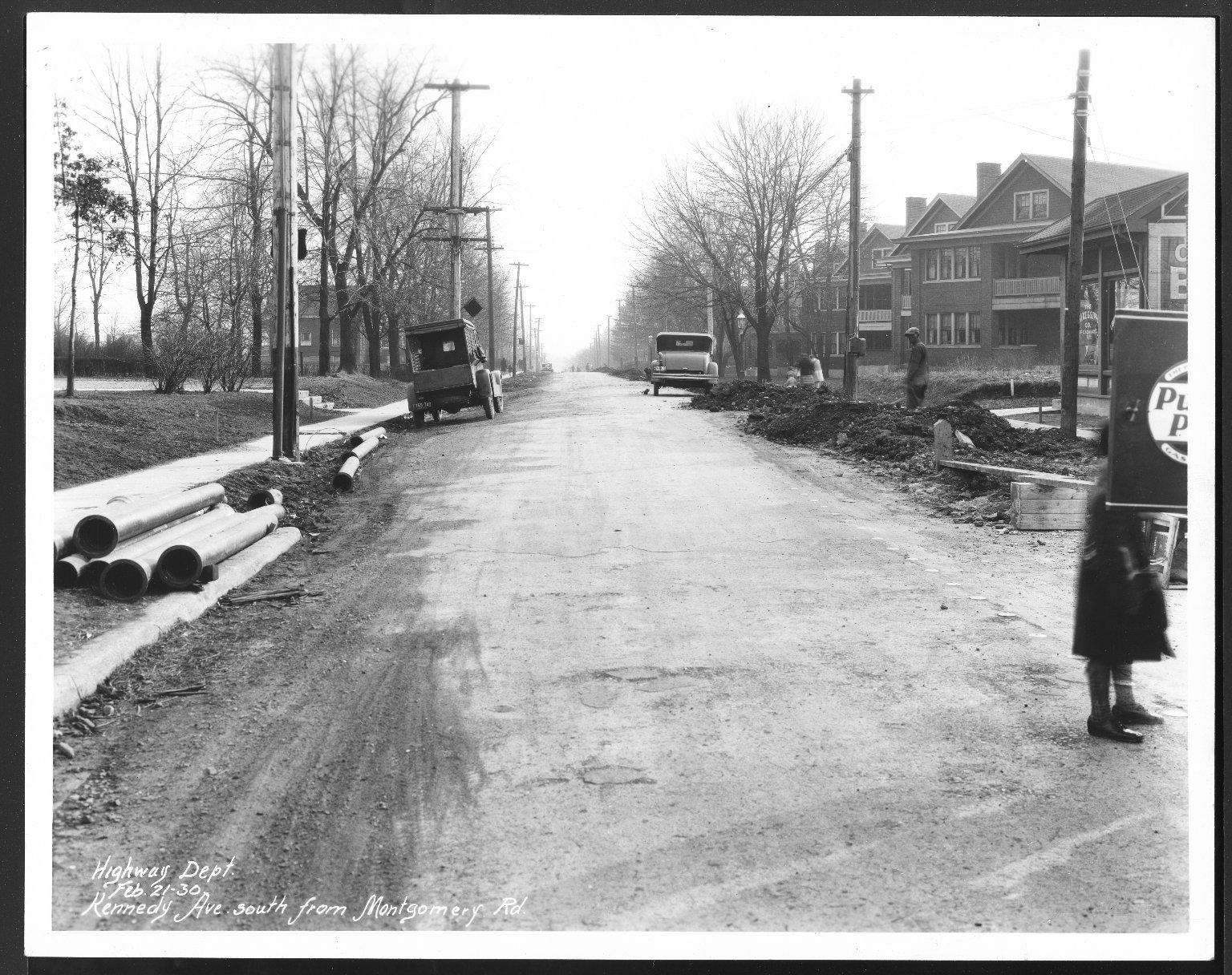 Street Improvement Photographs -- Box 25, Folder 12 (Kennedy Avenue) -- print, 1930-02-21