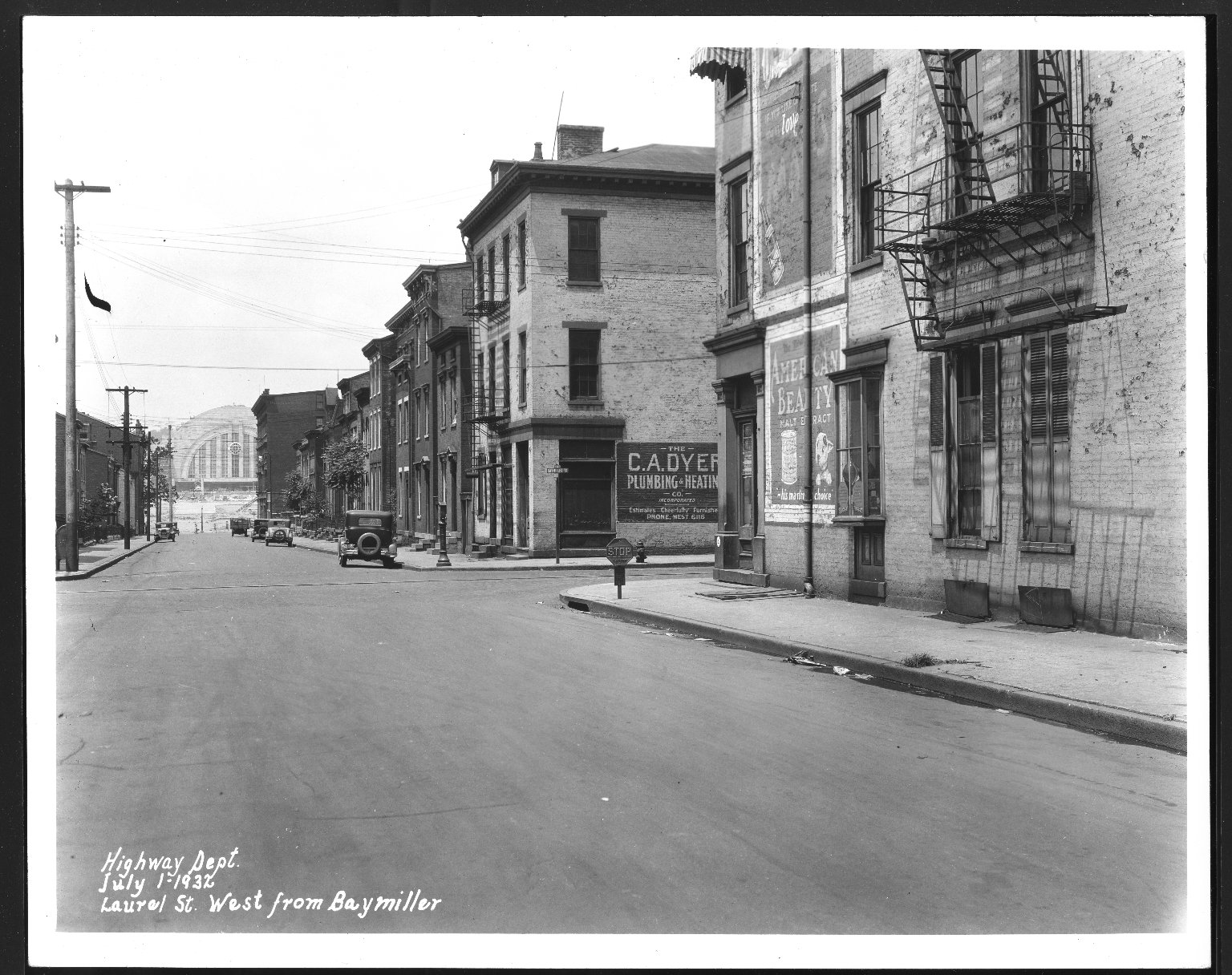 Street Improvement Photographs -- Box 25, Folder 50 (Laurel Street) -- print, 1932-07-01