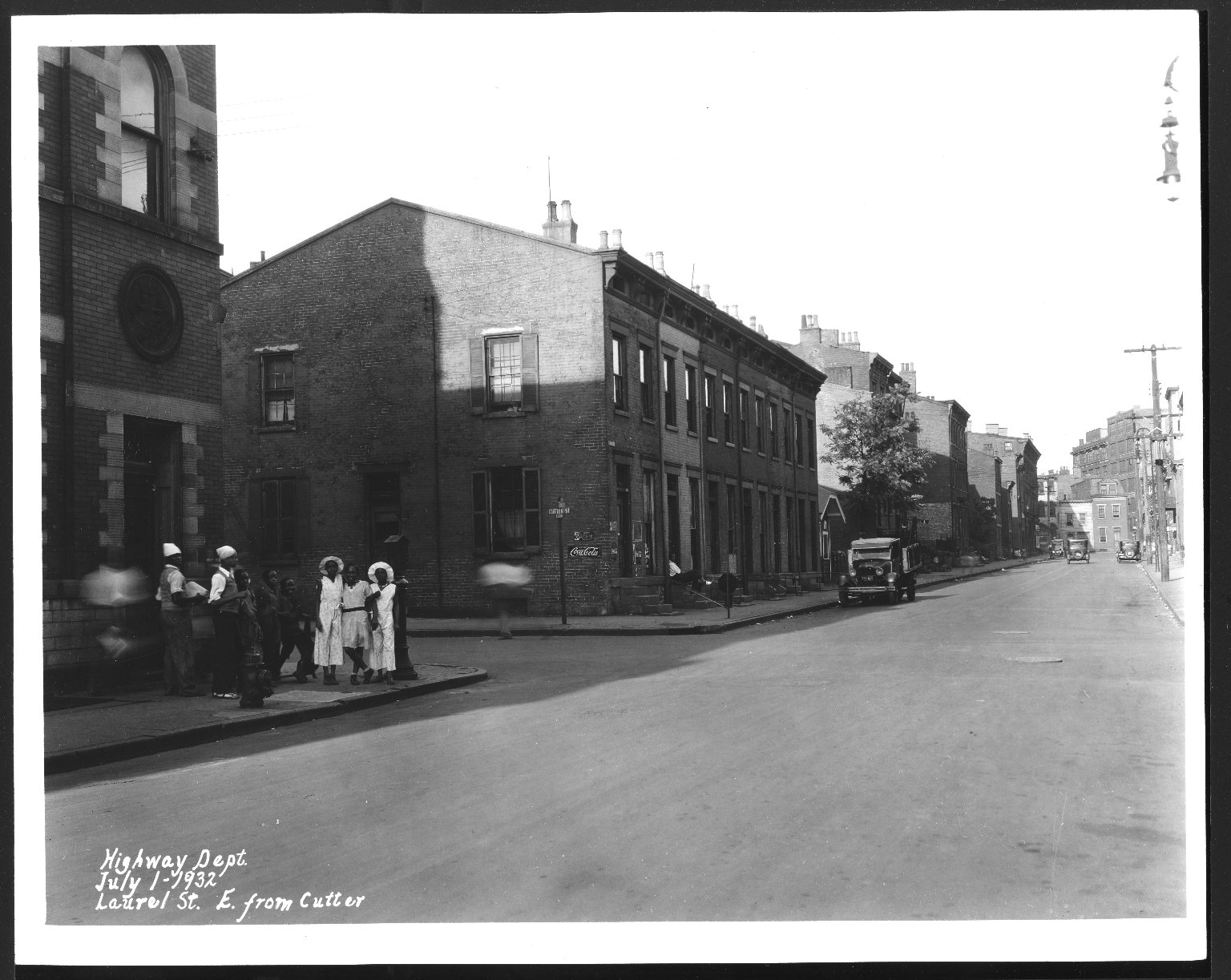 Street Improvement Photographs -- Box 25, Folder 51 (Laurel Street) -- print, 1932-07-01