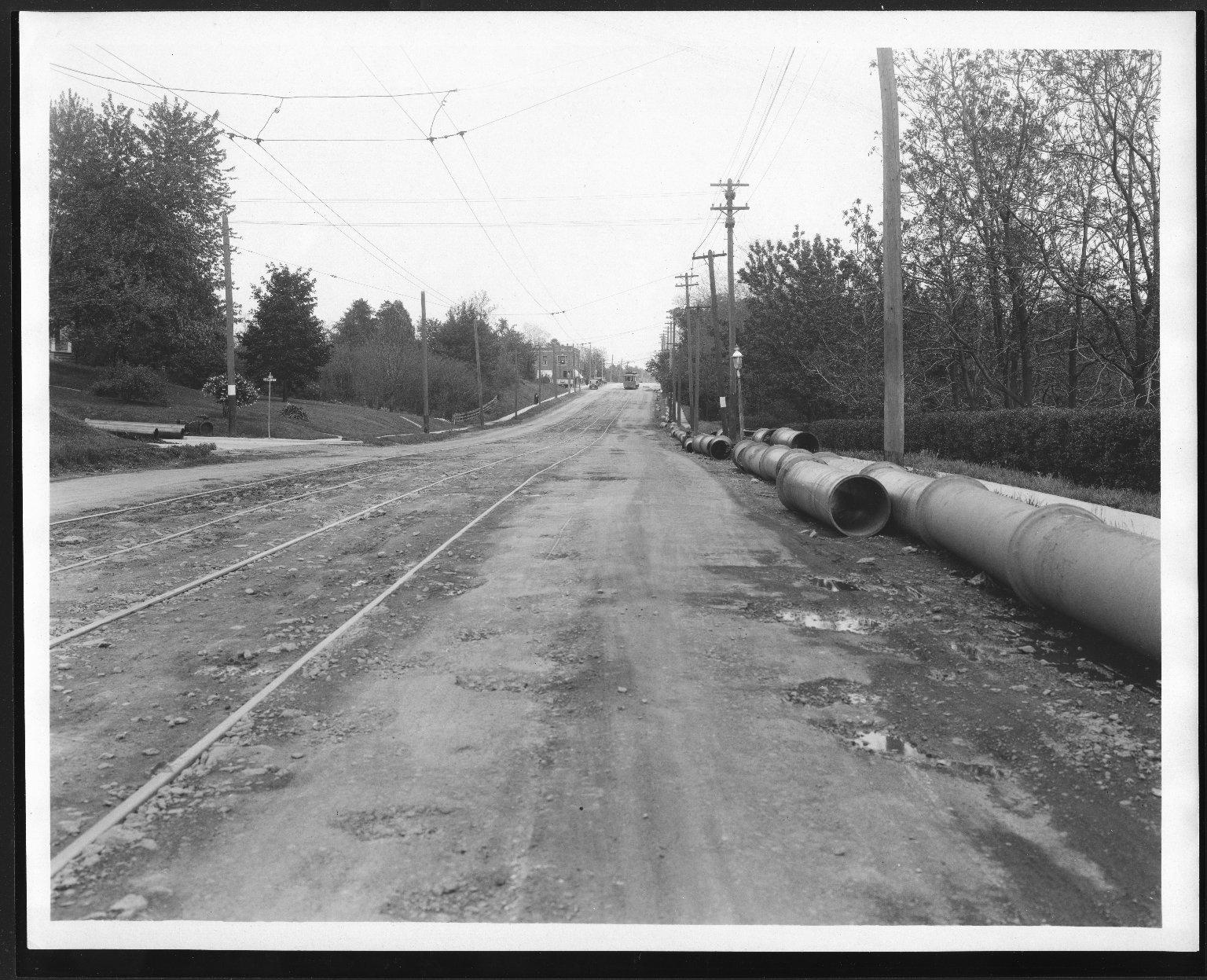Street Improvement Photographs -- Box 27, Folder 10 (Montgomery Road) -- print, 1923-05-17