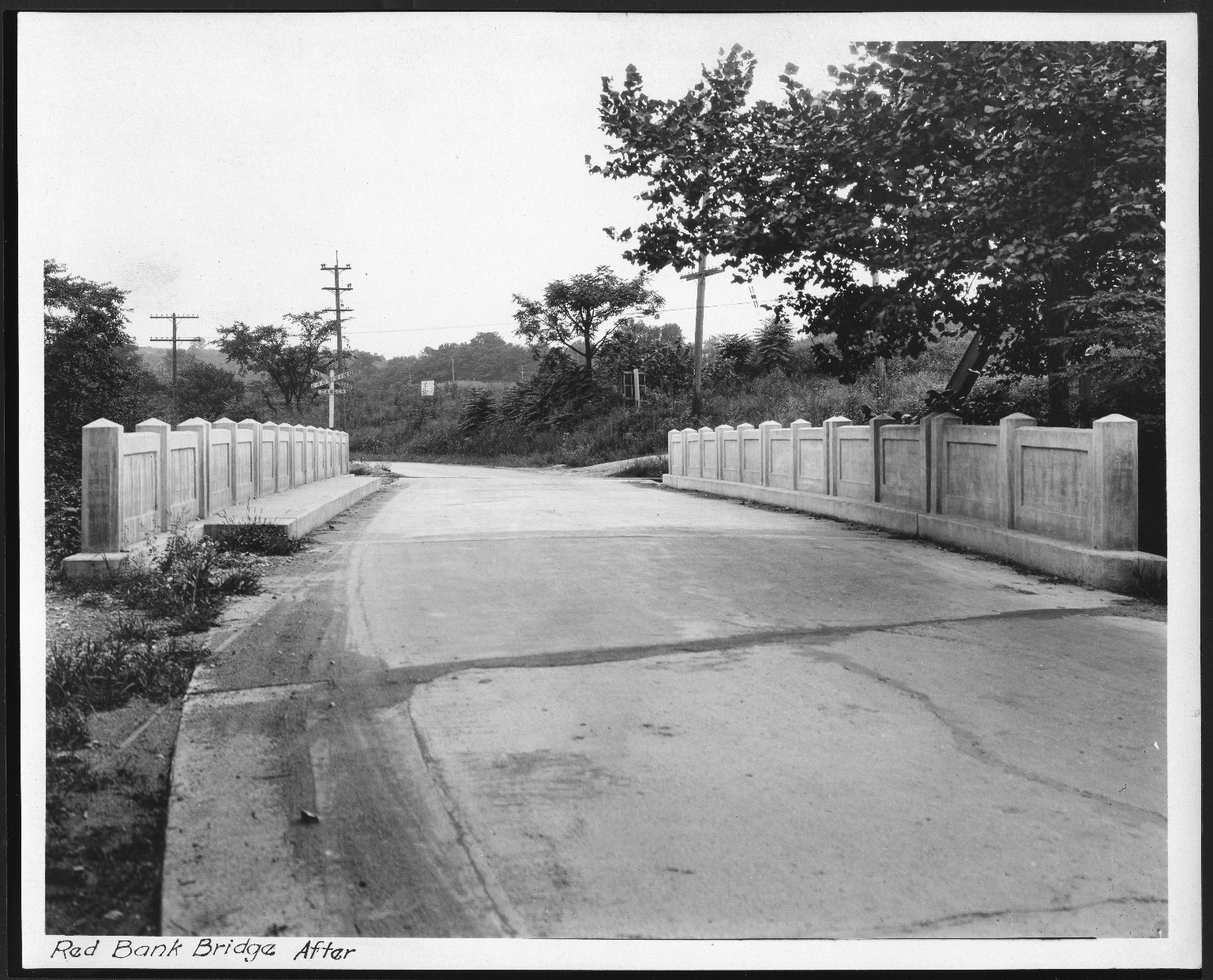 Street Improvement Photographs -- Box 28, Folder 06 (Red Bank Avenue Bridge) -- print, 1928