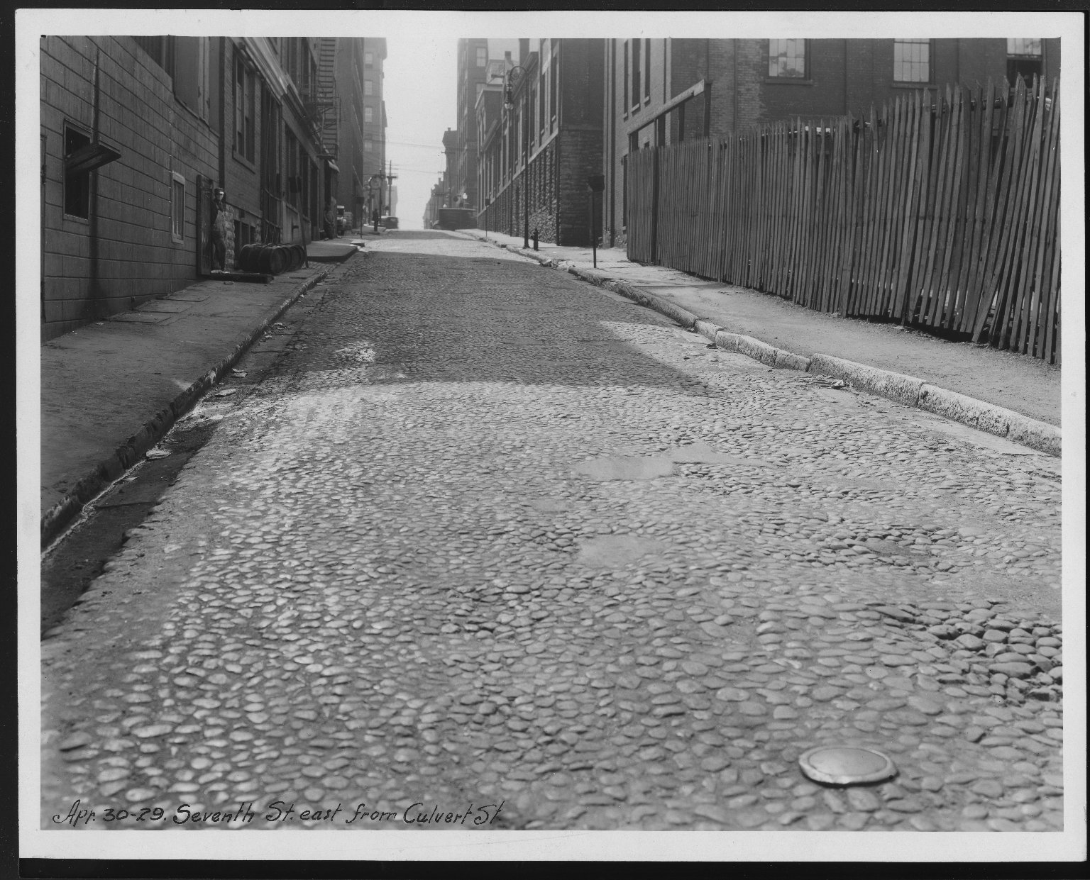 Street Improvement Photographs -- Box 28, Folder 40 (Seventh Street) -- print, 1929-04-30