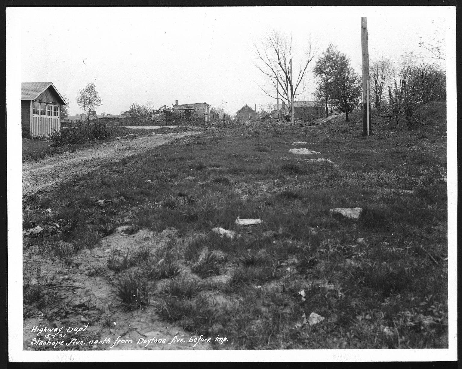 Street Improvement Photographs -- Box 28, Folder 75 (Stanhope Avenue) -- print, 1931-05-01
