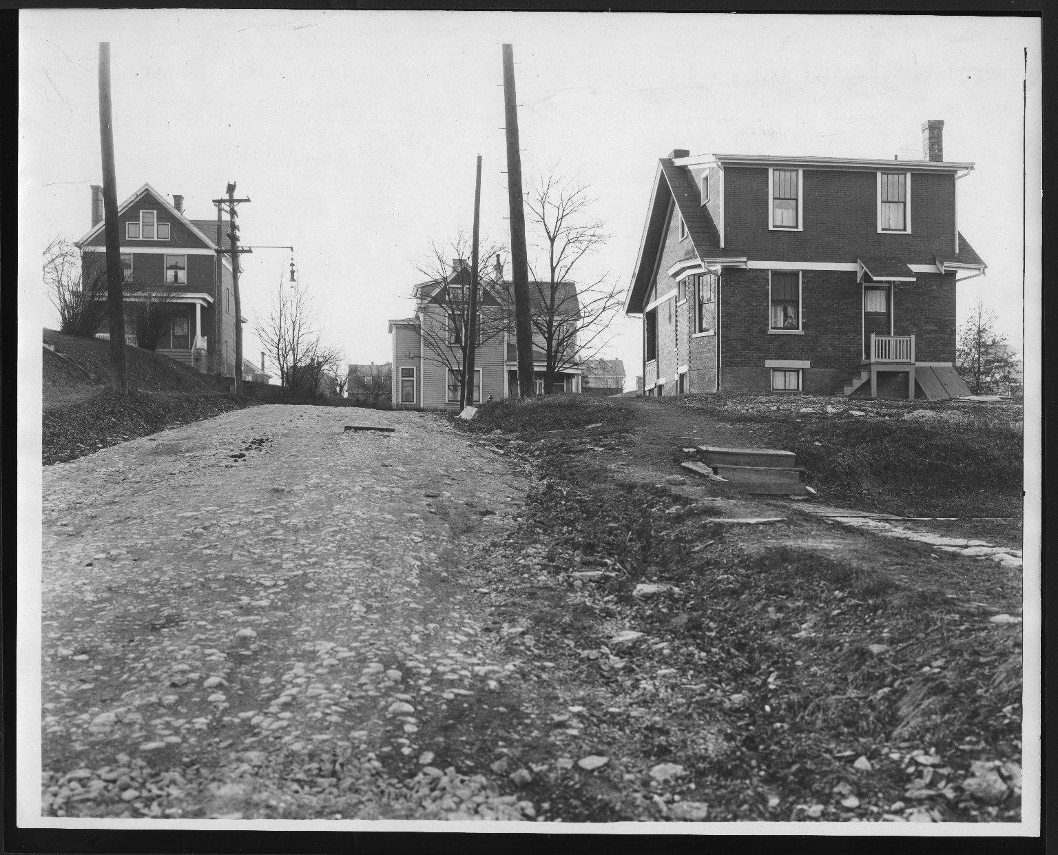 Street Improvement Photographs -- Box 28, Folder 78 (St. Lawrence Avenue) -- print, 1921-12-28