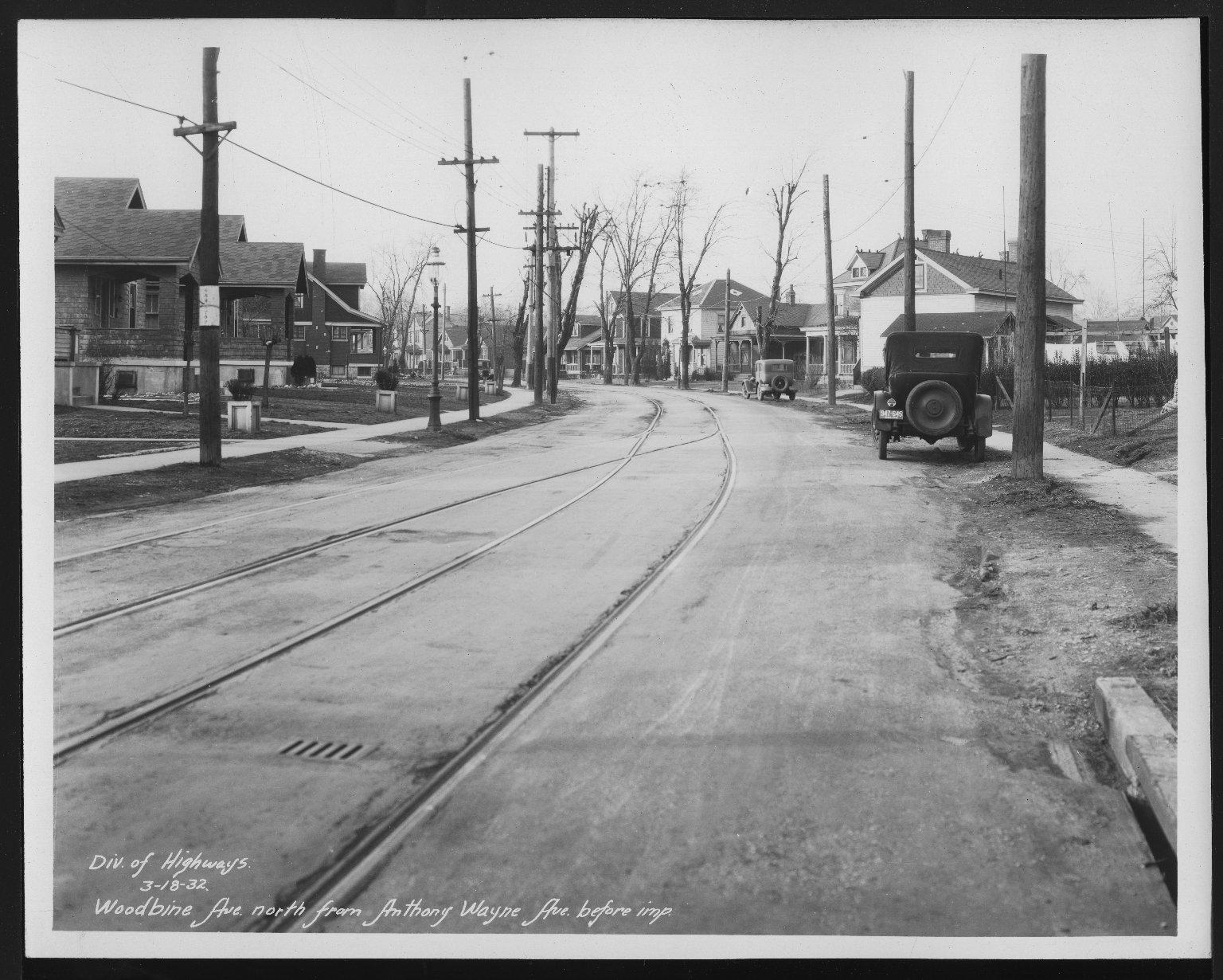 Street Improvement Photographs -- Box 30, Folder 24 (Woodbine Avenue) -- print, 1932-03-18