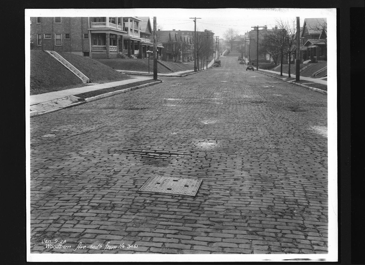 Street Improvement Photographs -- Box 30, Folder 27 (Woodburn Avenue) -- print, 1928-01-09