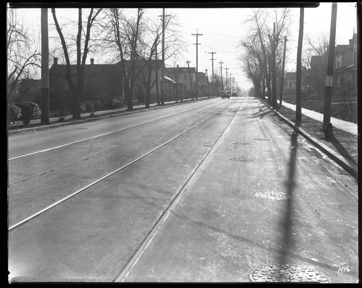 Street Improvement Photographs -- Box 31, Folder 04 (Anthony Wayne Avenue) -- negative, 1927