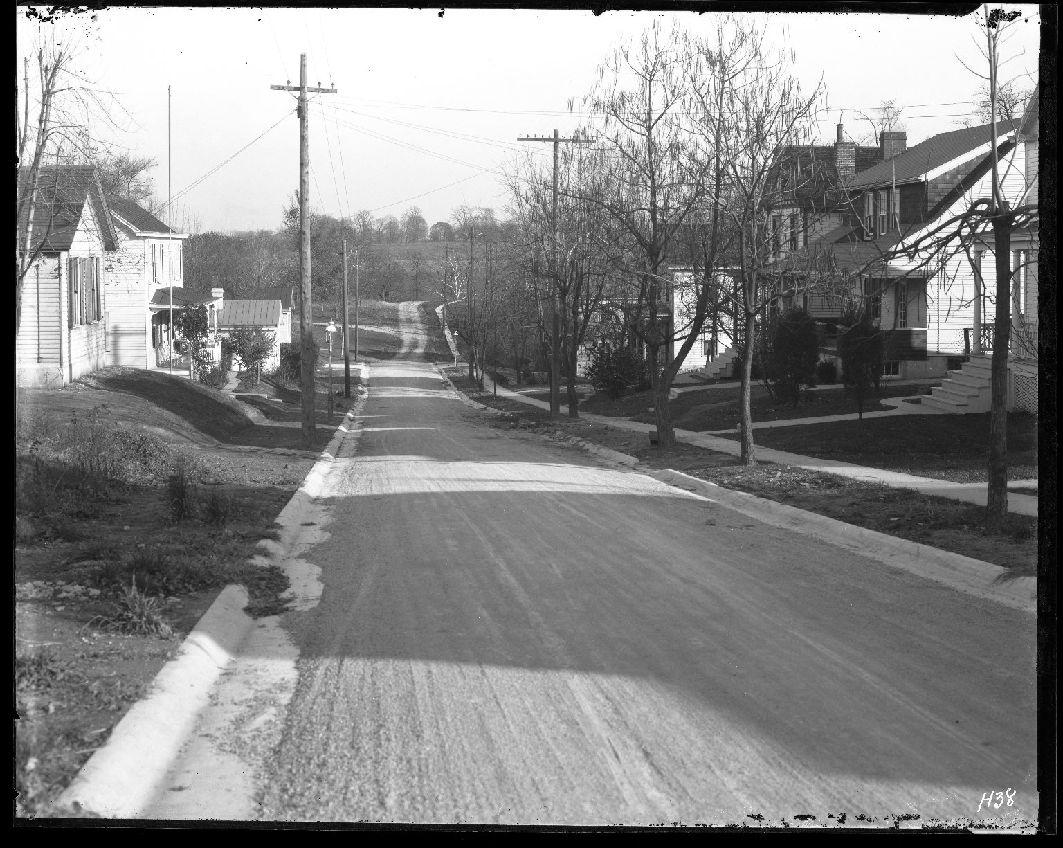 Street Improvement Photographs -- Box 31, Folder 10 (Aster Place College Hill) -- negative, 1927