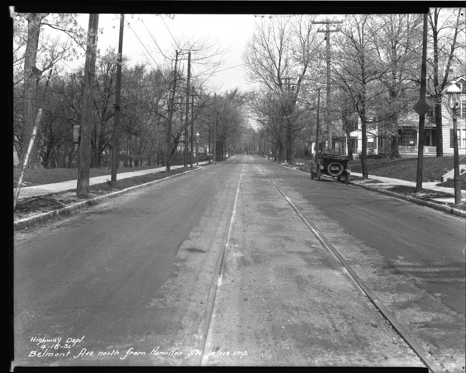 Street Improvement Photographs -- Box 32, Folder 17 (Belmont Avenue) -- negative, 1931-04-16