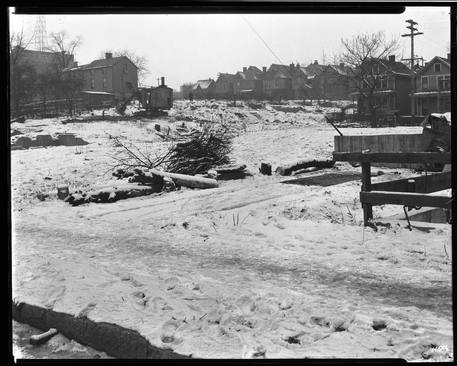 Street Improvement Photographs -- Box 32, Folder 25 (Boulevard Extension) -- negative, 1929