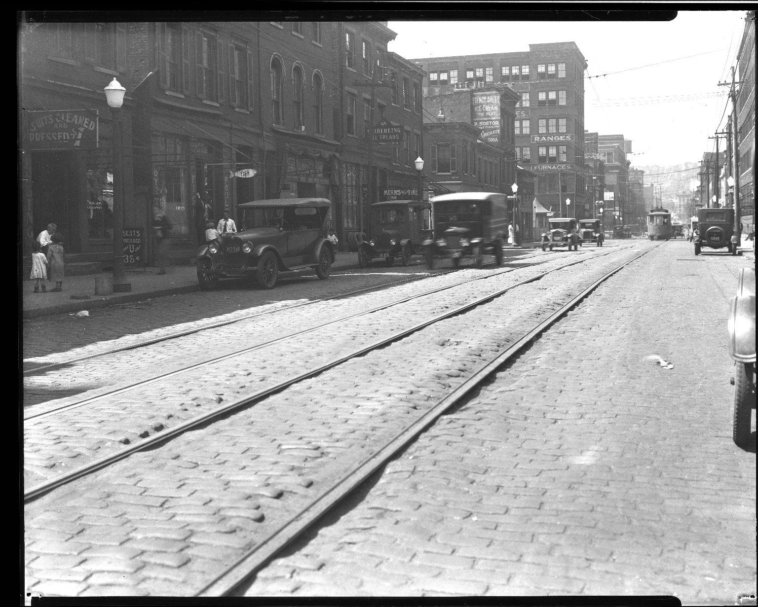 Street Improvement Photographs -- Box 32, Folder 28 (Broadway Street) -- negative, 1926