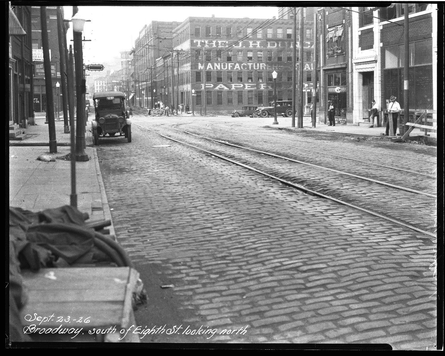 Street Improvement Photographs -- Box 32, Folder 28 (Broadway Street) -- negative, 1926-09-23