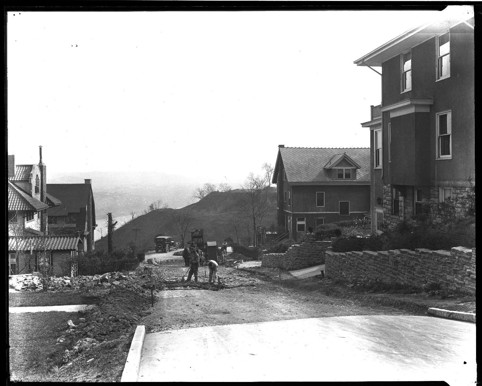 Street Improvement Photographs -- Box 32, Folder 35 (Calvin Cliff) -- negative, 1930