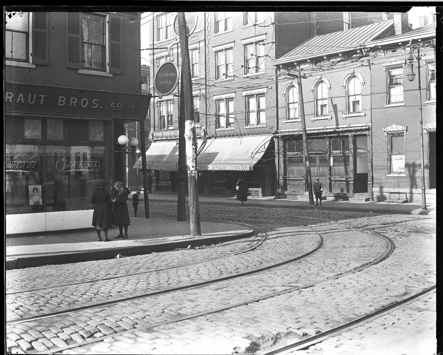 Street Improvement Photographs -- Box 32, Folder 48 (Chandler Avenue) -- negative, 1927
