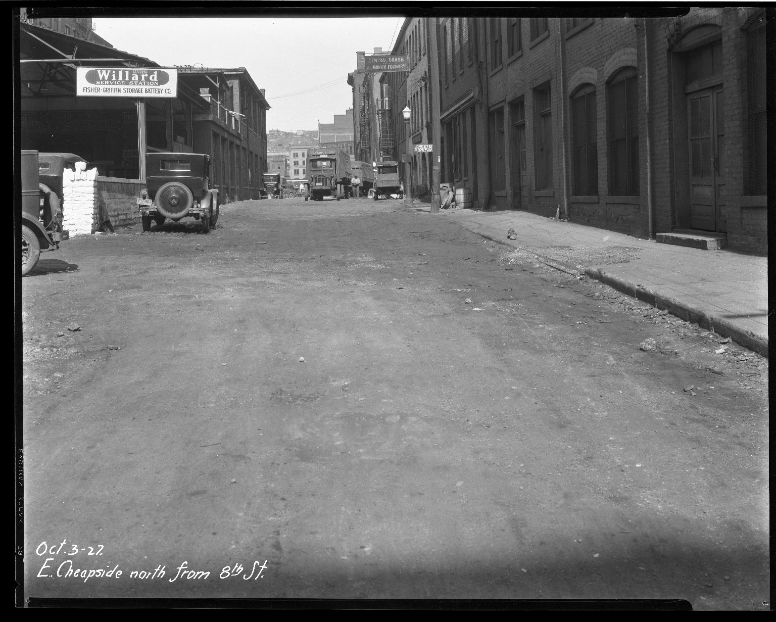 Street Improvement Photographs -- Box 33, Folder 02 (East Cheapside Street) -- negative, 1927-10-03