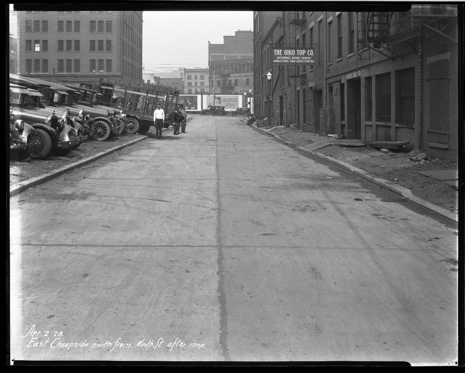 Street Improvement Photographs -- Box 33, Folder 02 (East Cheapside Street) -- negative, 1928-04-02