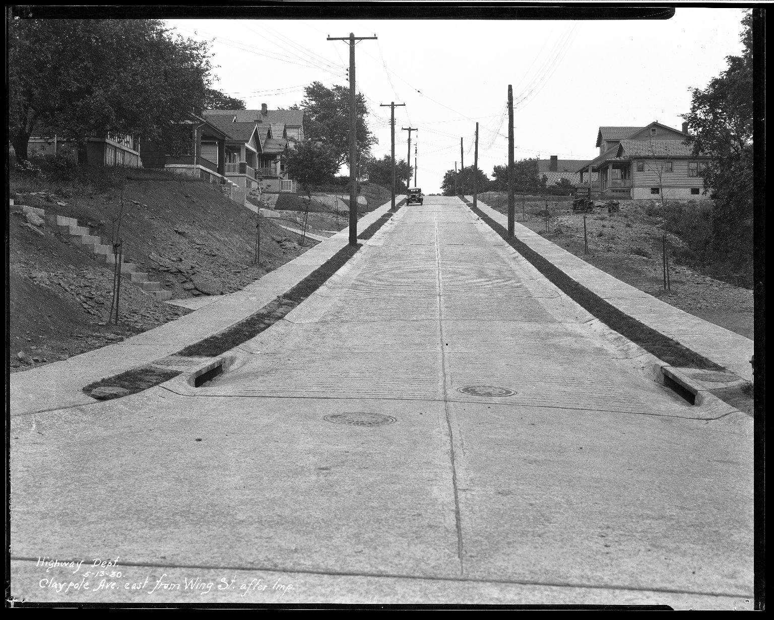 Street Improvement Photographs -- Box 33, Folder 05 (Claypole Street) -- negative, 1930-05-13