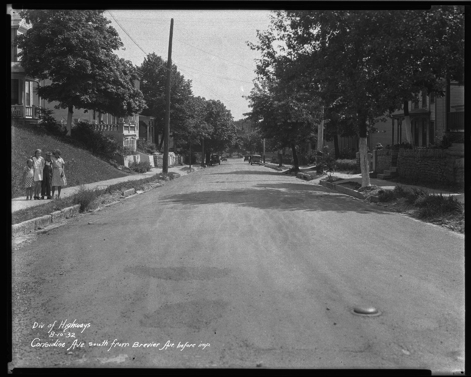 Street Improvement Photographs -- Box 33, Folder 19 (Considine Avenue) -- negative, 1932-08-10