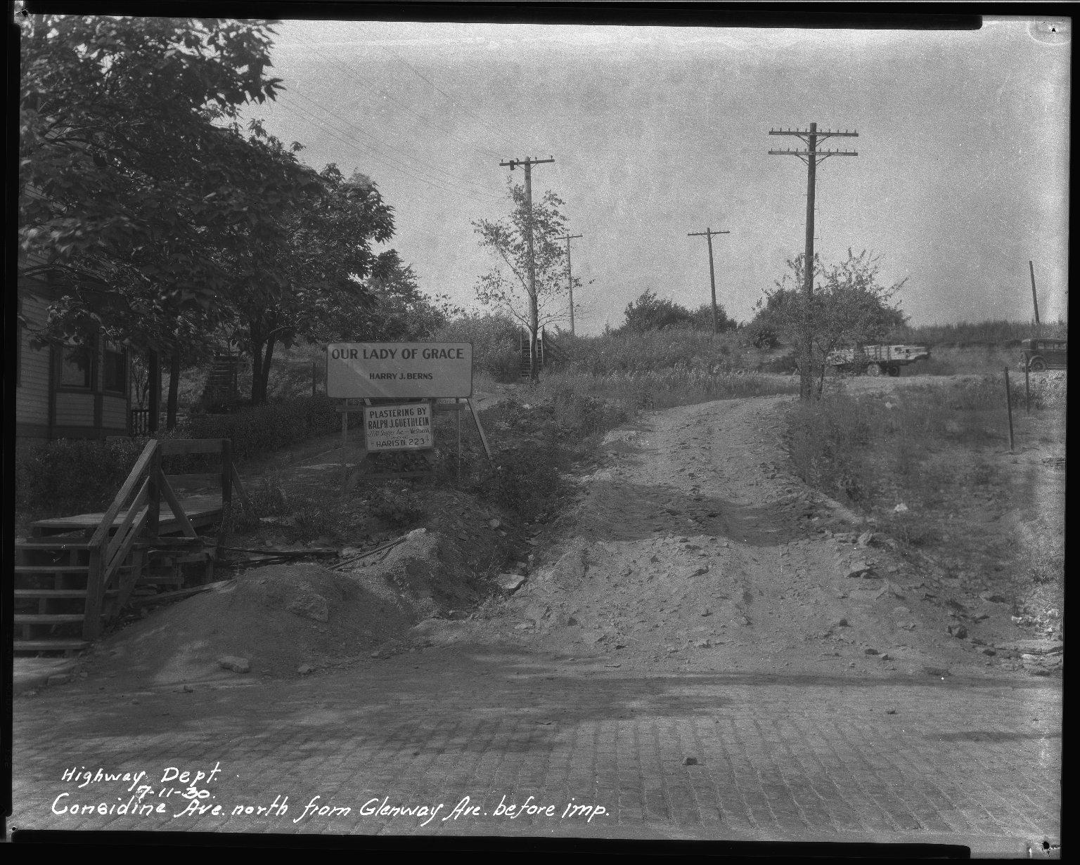 Street Improvement Photographs -- Box 33, Folder 19 (Considine Avenue) -- negative, 1930-07-11