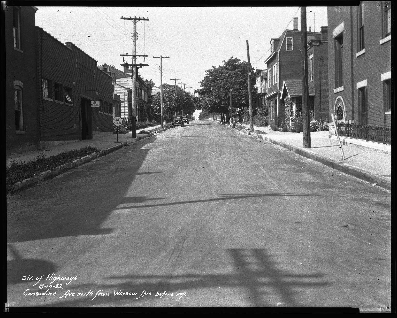 Street Improvement Photographs -- Box 33, Folder 19 (Considine Avenue) -- negative, 1932-08-10