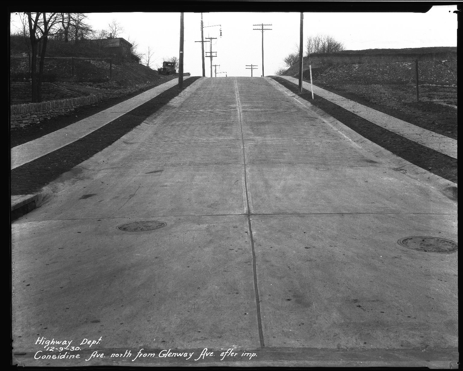 Street Improvement Photographs -- Box 33, Folder 19 (Considine Avenue) -- negative, 1930-12-09