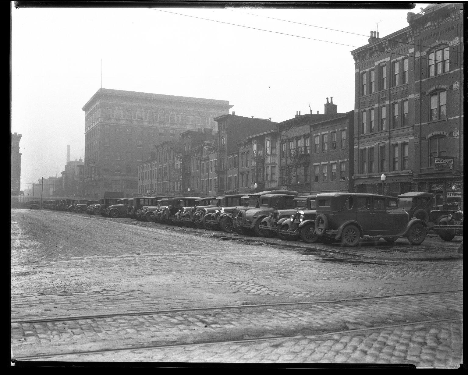 Street Improvement Photographs -- Box 33, Folder 23 (Court Street) -- negative, 1929