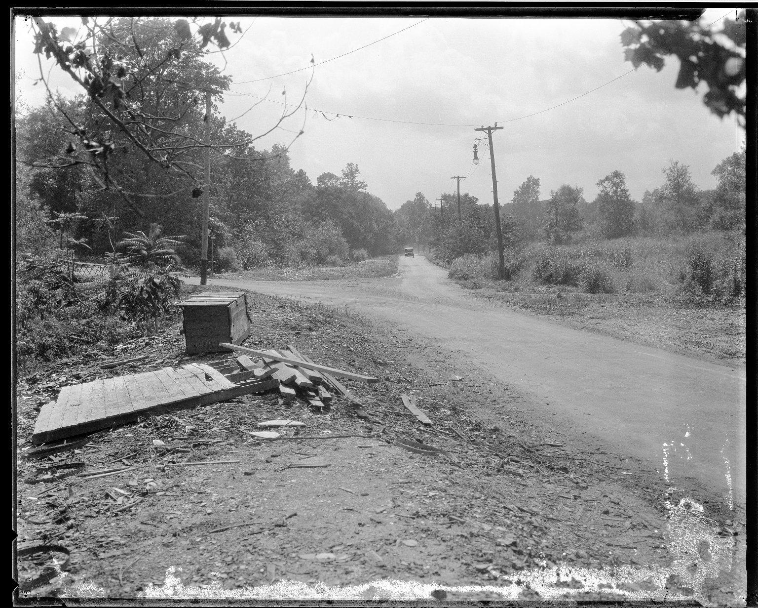 Street Improvement Photographs -- Box 33, Folder 40 (Dana Avenue) -- negative, 1929