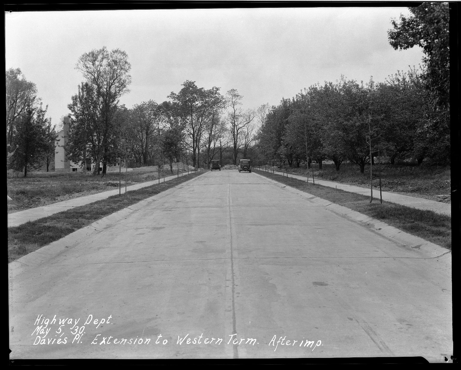 Street Improvement Photographs -- Box 33, Folder 44 (Davies Place) -- negative, 1930-05-05