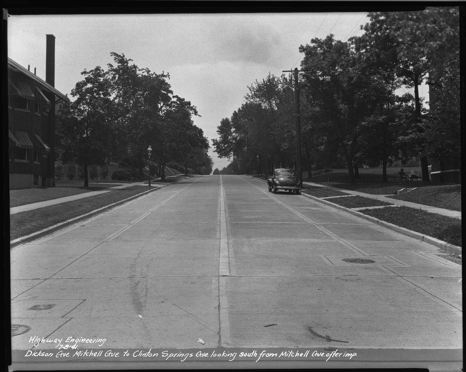 Street Improvement Photographs -- Box 34, Folder 04 (Dickson Avenue) -- negative, 1941-07-08