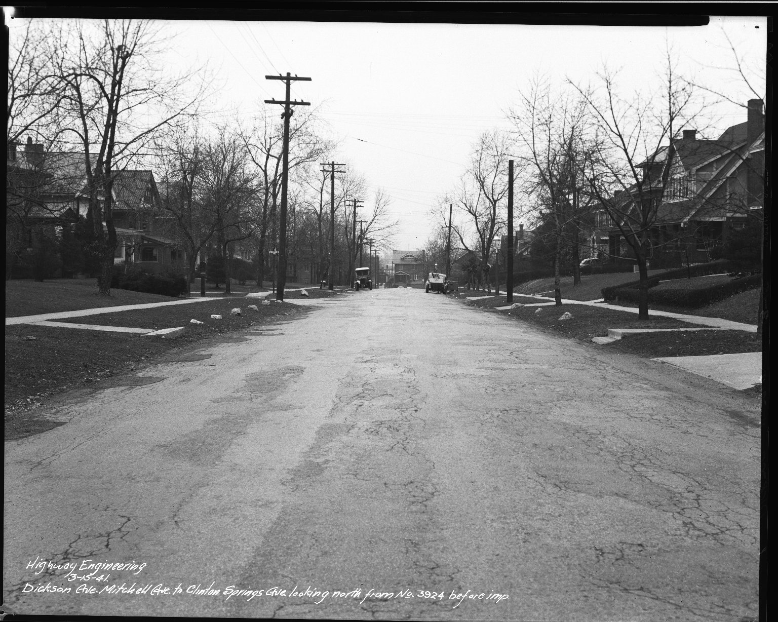 Street Improvement Photographs -- Box 34, Folder 04 (Dickson Avenue) -- negative, 1941-03-15