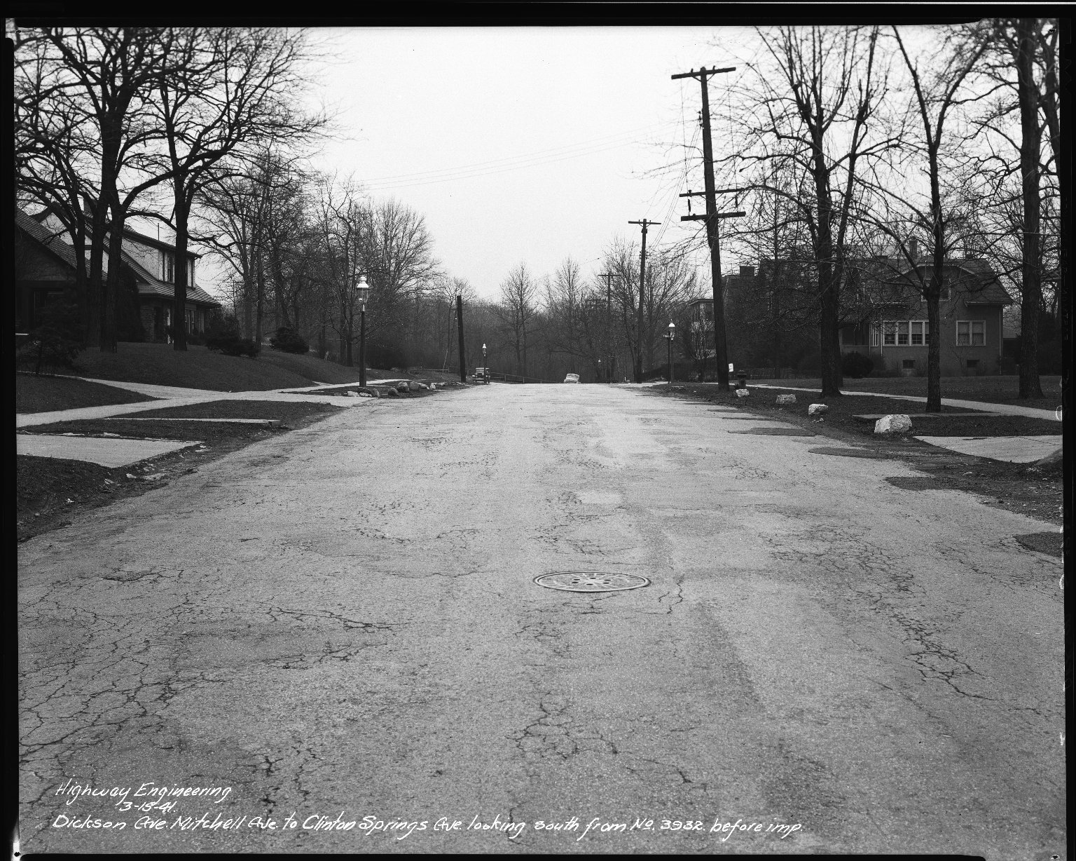 Street Improvement Photographs -- Box 34, Folder 04 (Dickson Avenue) -- negative, 1941-03-15