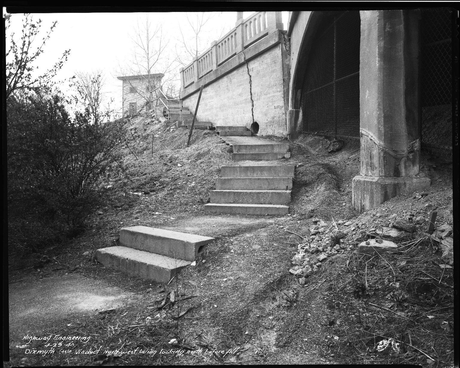 Street Improvement Photographs -- Box 34, Folder 07 (Dixmyth Avenue) -- negative, 1940-04-29