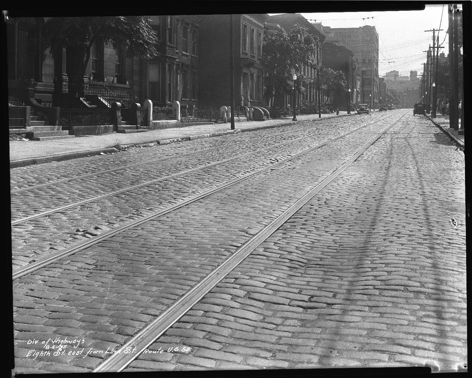 Street Improvement Photographs -- Box 34, Folder 35 (Eighth Street) -- negative, 1935-08-06