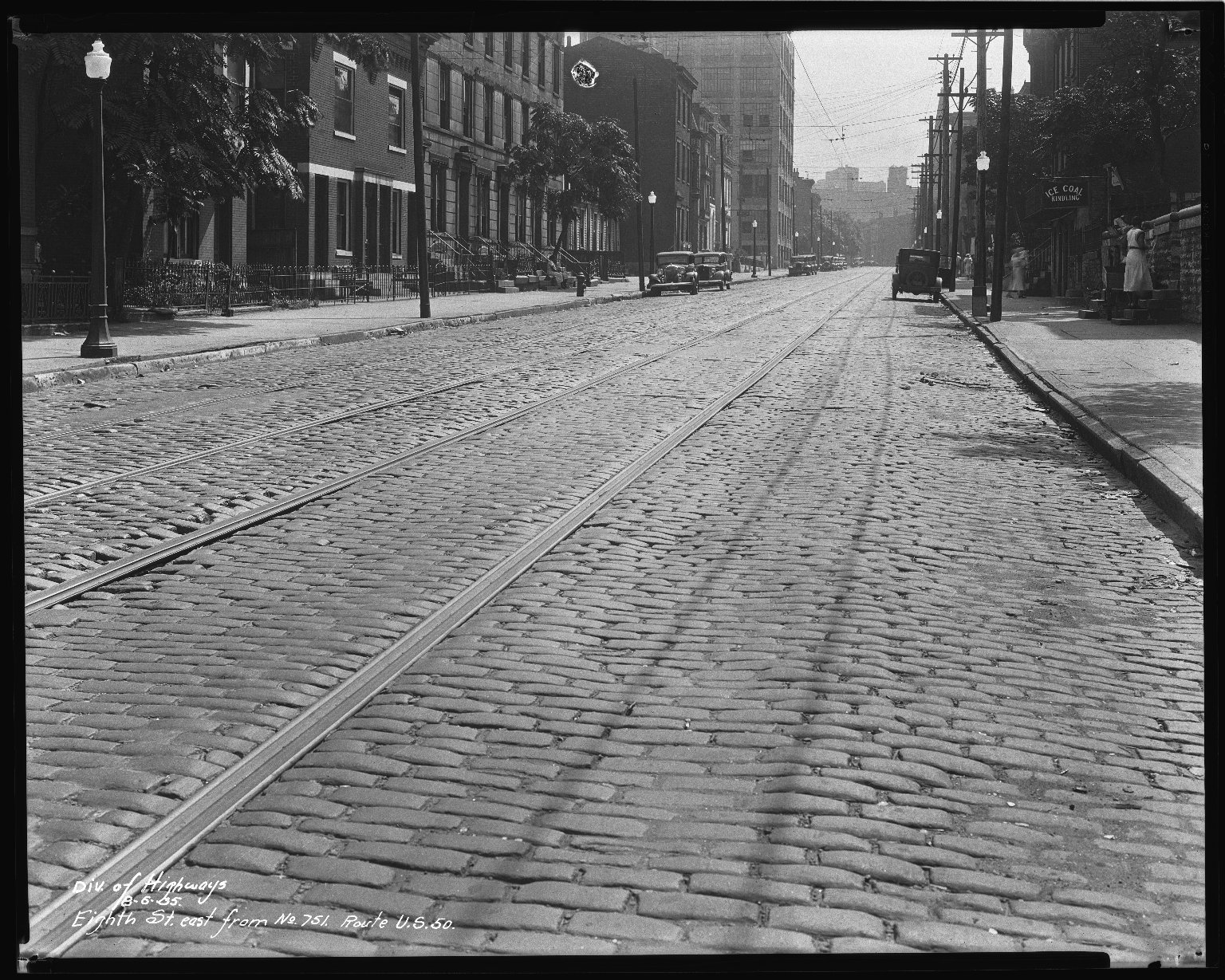 Street Improvement Photographs -- Box 34, Folder 35 (Eighth Street) -- negative, 1935-08-06