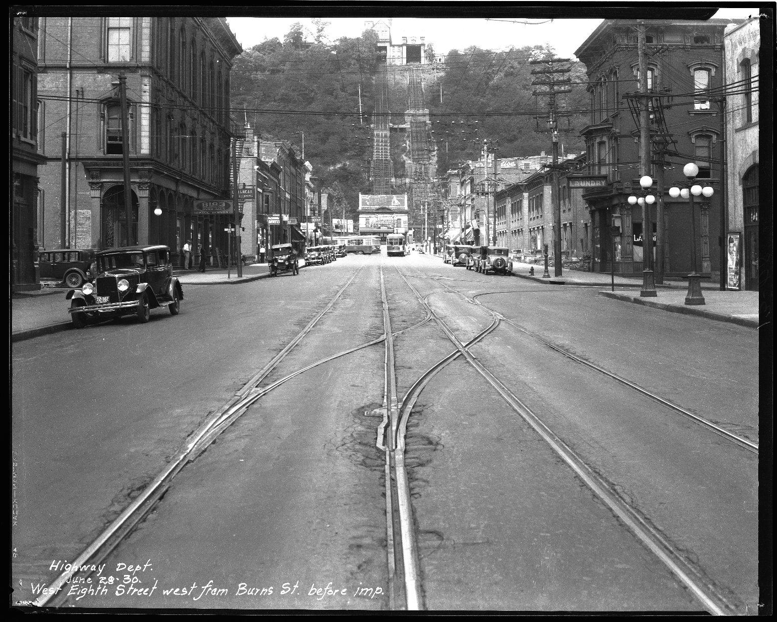 Street Improvement Photographs -- Box 34, Folder 36 (Eighth Street) -- negative, 1930-06-28