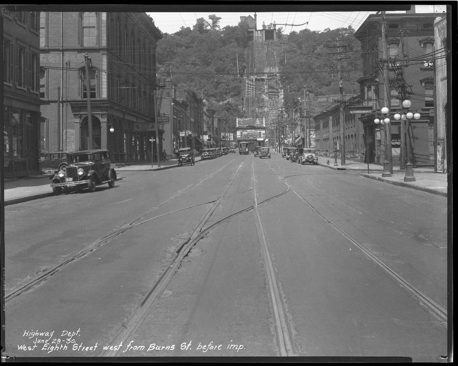 Street Improvement Photographs -- Box 34, Folder 36 (Eighth Street) -- negative, 1930-06-28