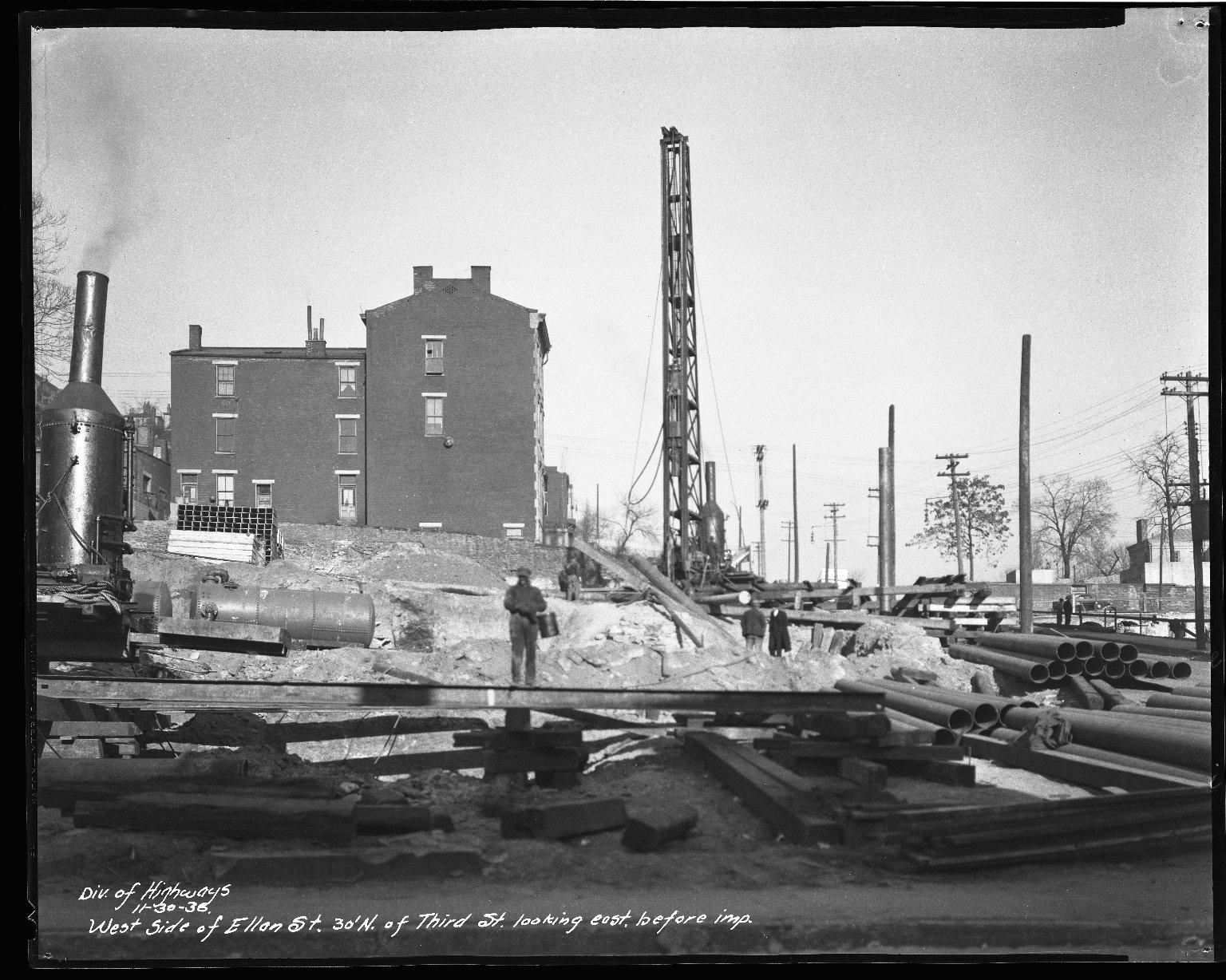 Street Improvement Photographs -- Box 34, Folder 38 (Ellen Street) -- negative, 1930-11-30