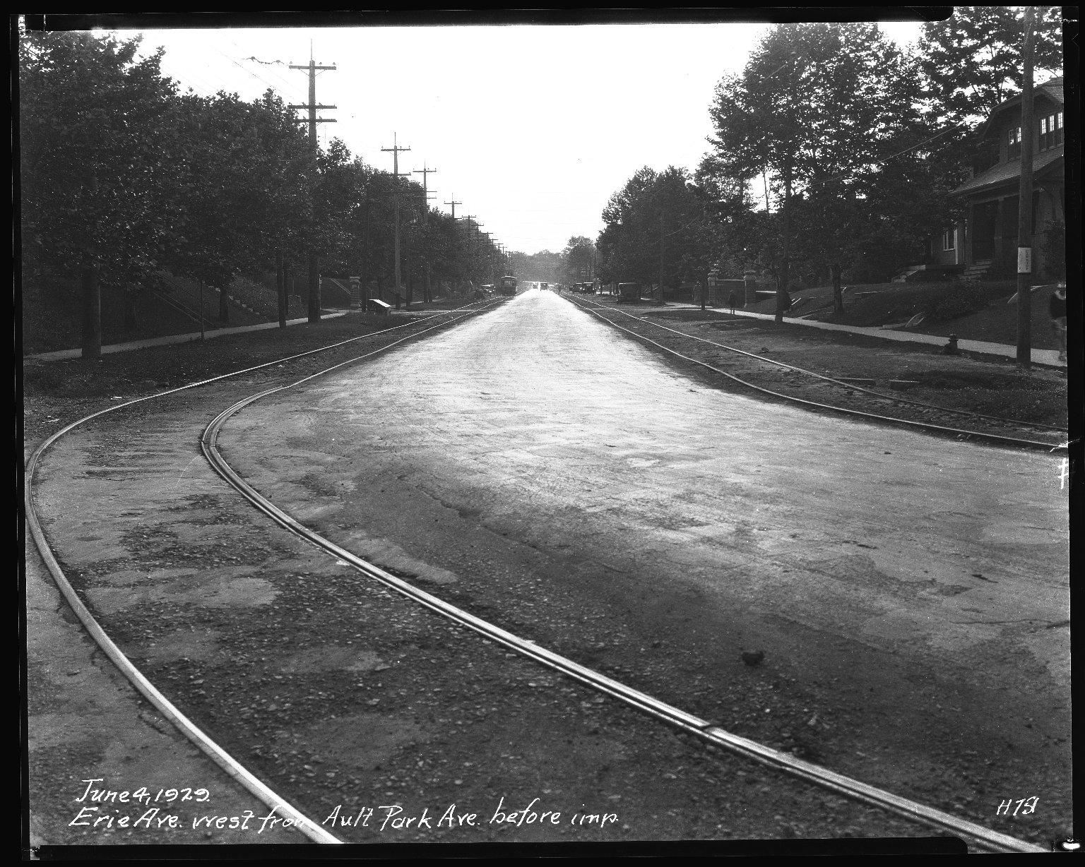 Street Improvement Photographs -- Box 34, Folder 39 (Erie Avenue) -- negative, 1929-06-04