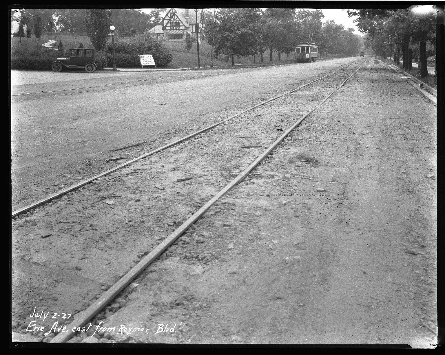 Street Improvement Photographs -- Box 34, Folder 42 (Erie Avenue) -- negative, 1927-07-02
