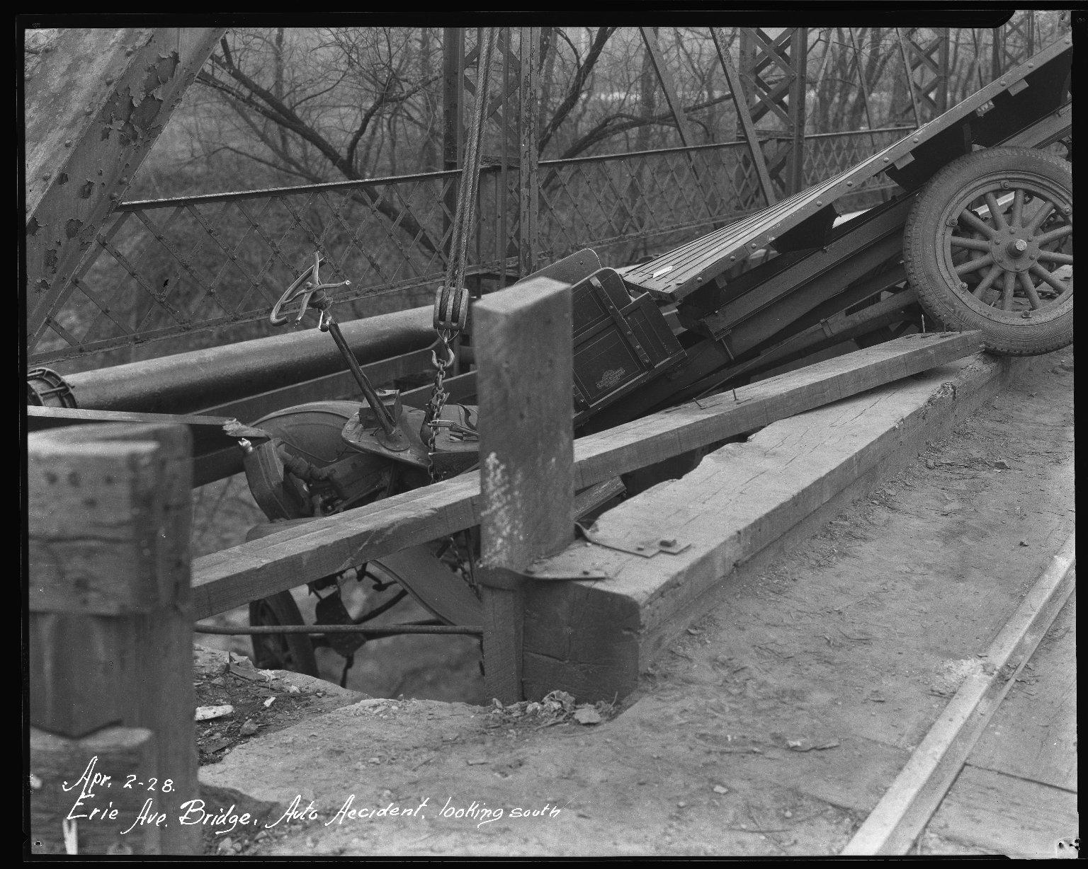 Street Improvement Photographs -- Box 34, Folder 44 (Erie Avenue) -- negative, 1928-04-02