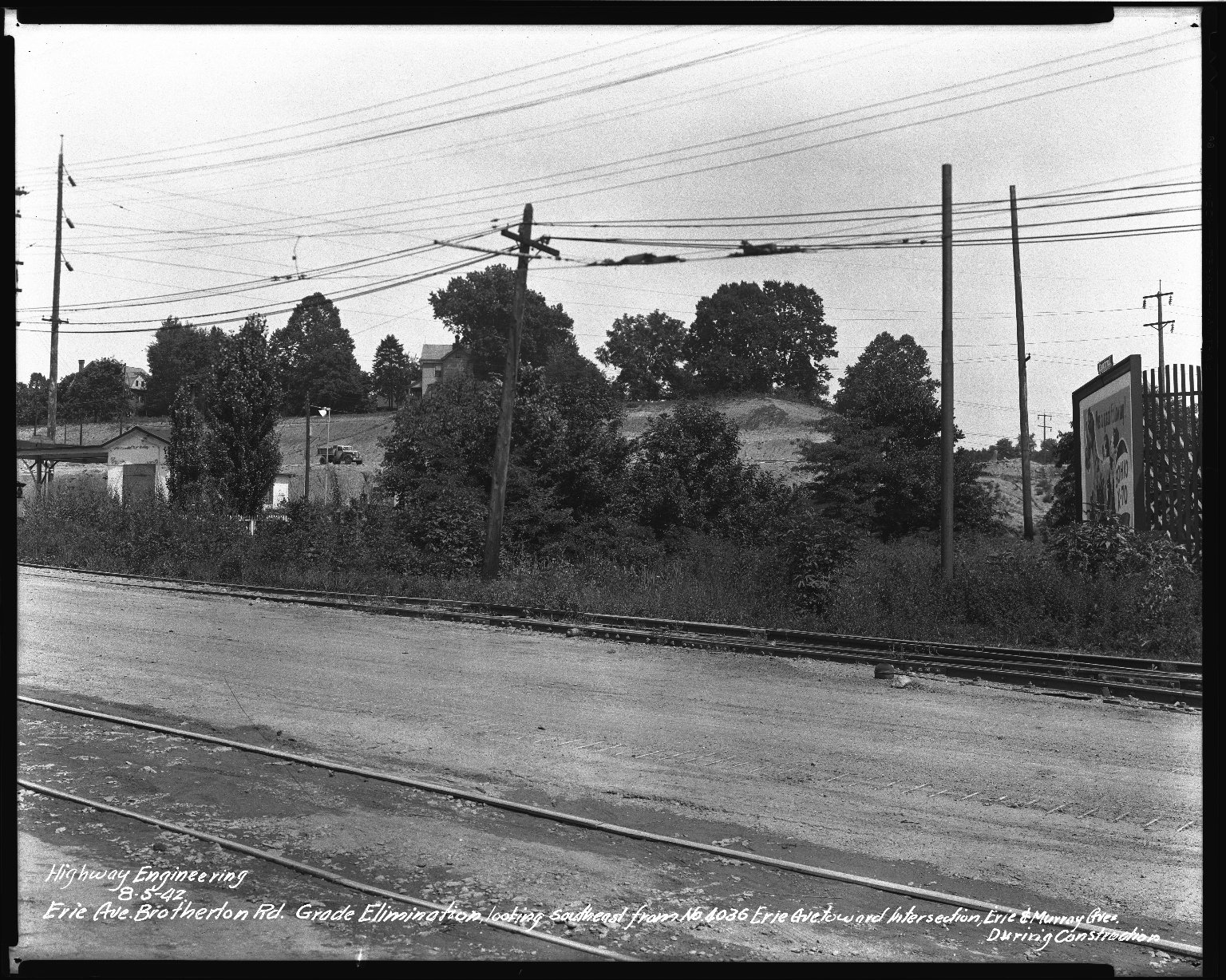 Street Improvement Photographs -- Box 34, Folder 53 (Erie Avenue) -- negative, 1942-08-05