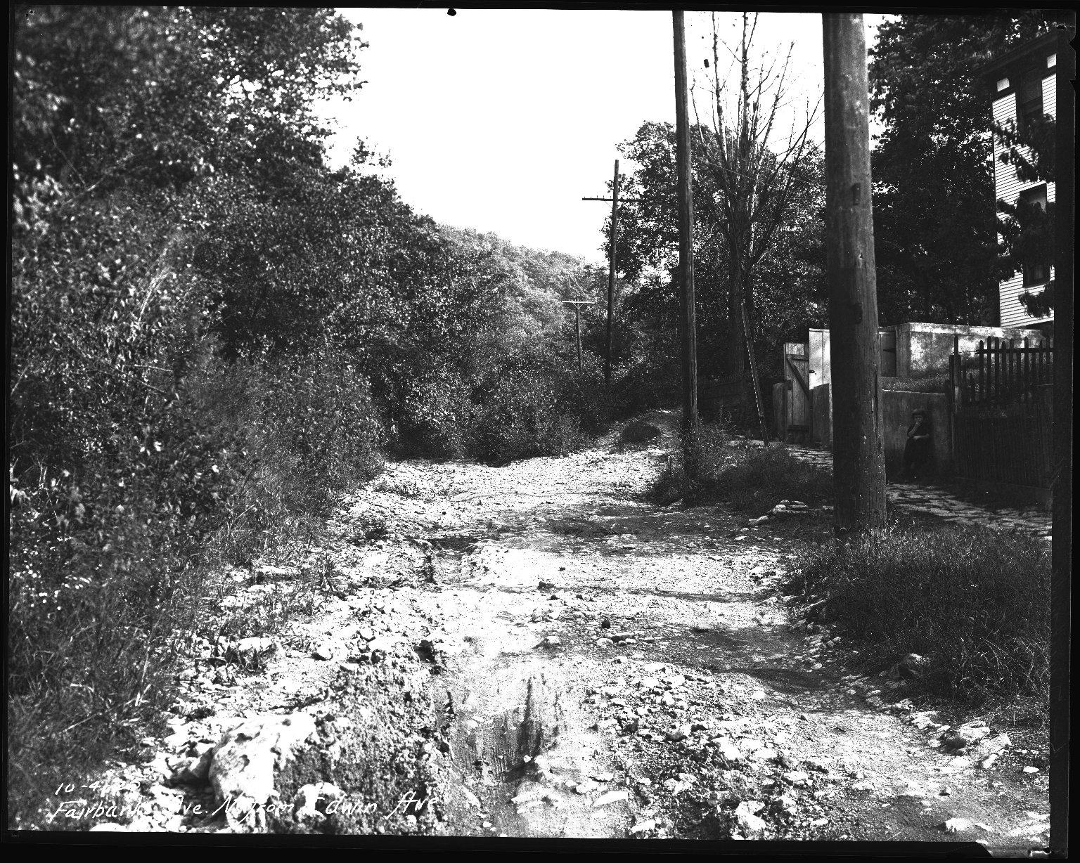 Street Improvement Photographs -- Box 35, Folder 16 (Fairbanks Avenue) -- negative, 1926-10-04