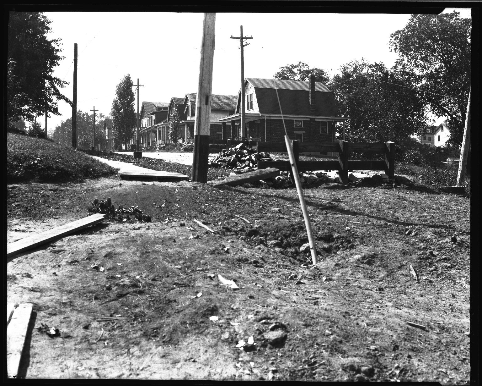 Street Improvement Photographs -- Box 35, Folder 25 (Ferdinand Place) -- negative, 1924
