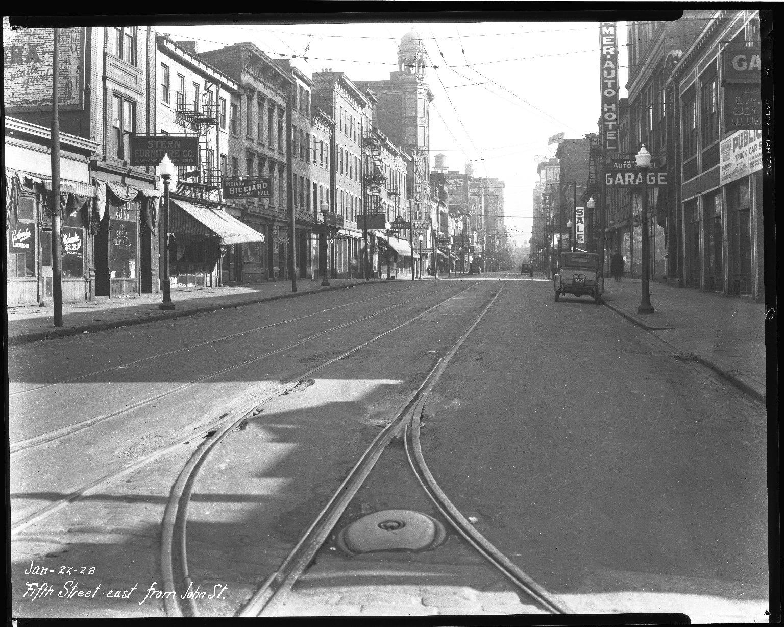 Street Improvement Photographs -- Box 35, Folder 31 (Fifth Street) -- negative, 1928-01-22